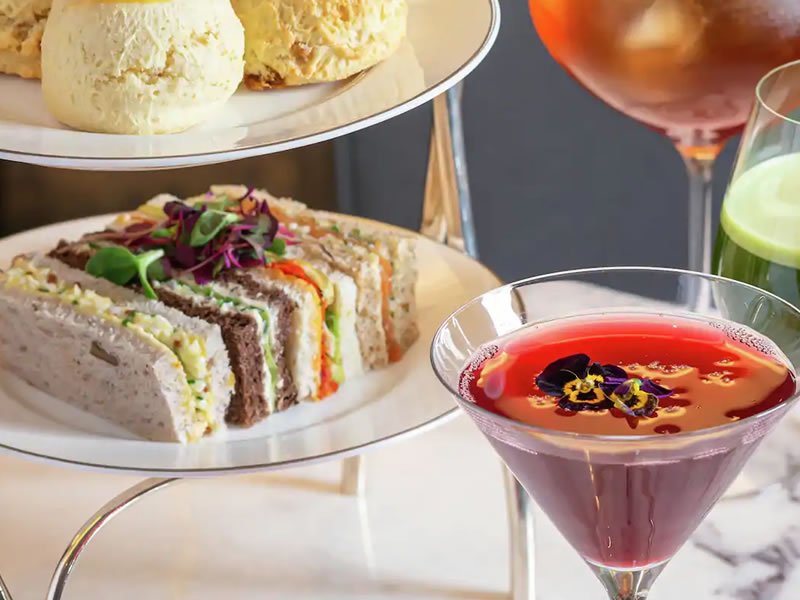 Afternoon Tea with glass of Champagne or Cocktail